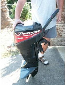 15hp Force Gamefisher outboard Boat Motor running on 14